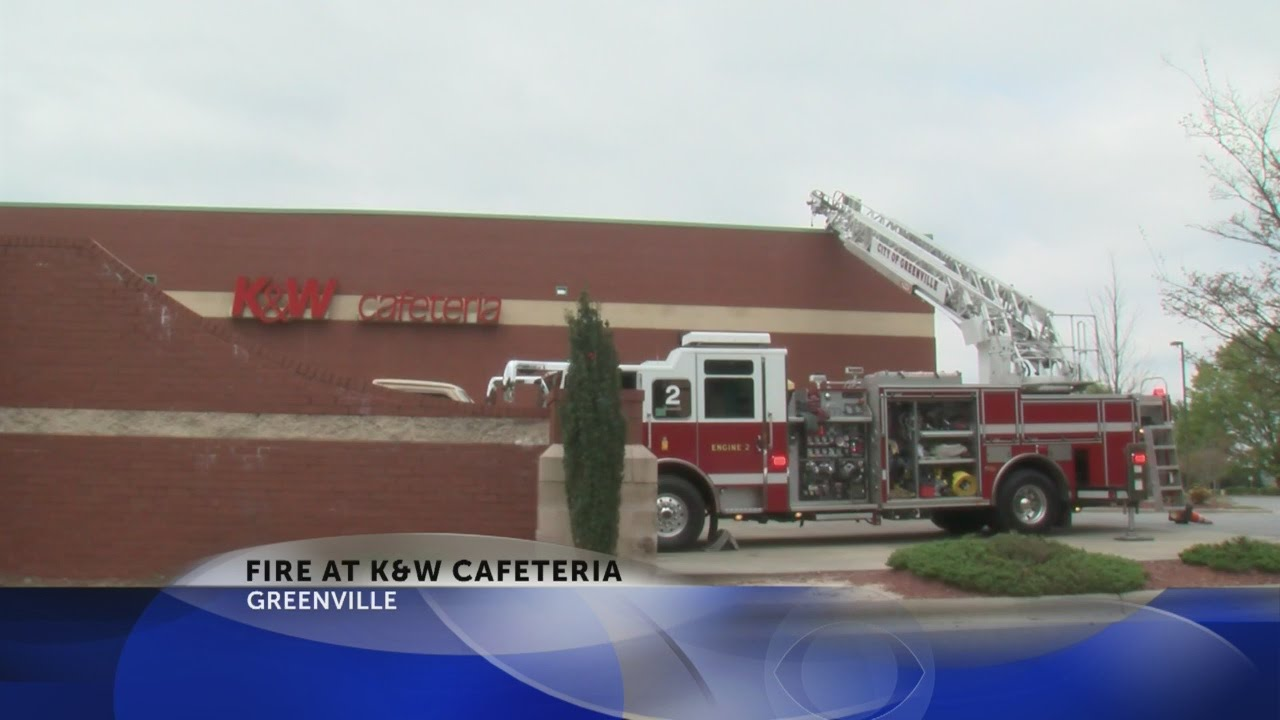 Fire Temporarily Closes Greenville K W Cafeteria Youtube