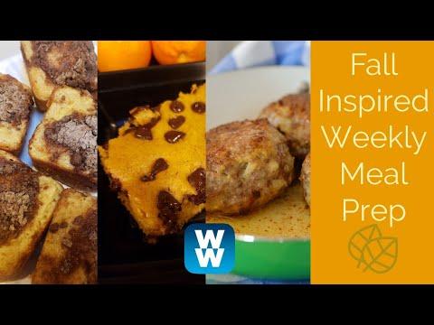 WEEKLY WW MEAL PREP | PUMPKIN PANCAKE BAKE | CRAN TURKEY MEATBALLS | APPLE CIDER MUFFINS!!