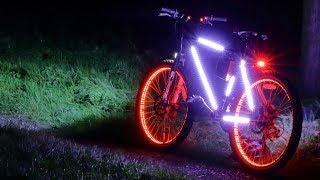 Homemade Tron inspired LED super bright bicycle lights