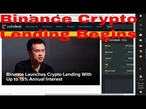 Binance Launches Crypto Lending With Up to 15% Annual Interest Binance Crypto Lending Begins
