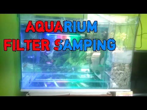 Belajar membuat aquarium filter samping