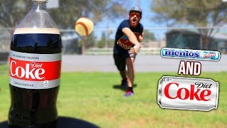 What Happens If A Baseball Hits Diet Coke And Mentos?