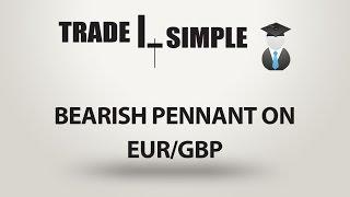 Learn Forex - Bearish pennant on EUR/GBP
