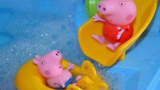 Пеппа і Джордж в аквапарку.Пригоди Пеппы.Peppa Pig in aquapark.