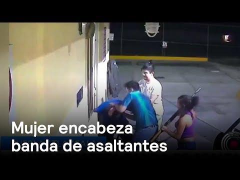 Video capta a banda de asaltantes  encabezada por una mujer - Las Noticias con Danielle