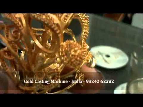 Lost Wax Gold Jewellery Vacuum Casting Process Machine.mp4