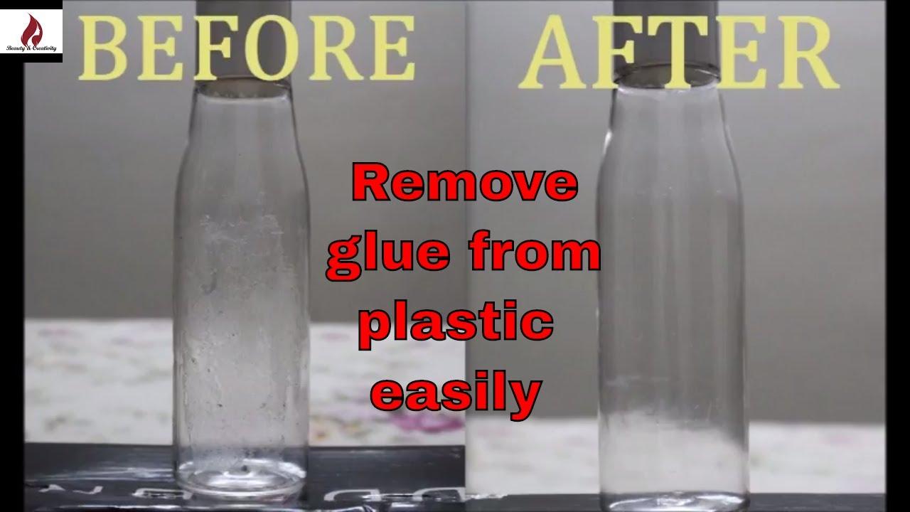 Remove Stubborn Glue From Plastic, Glass, Mirror Using ...