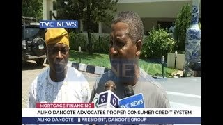 Aliko Dangote advocates proper consumer credit system