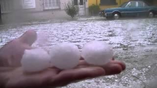 Tormenta de granizo en Mar del Plata