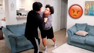 YOU'RE ADOPTED PRANK ON TWIN BROTHER! (GETS CRAZY)