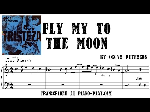 Oscar Peterson - Fly me to the moon transcription in PDF, MIDI
