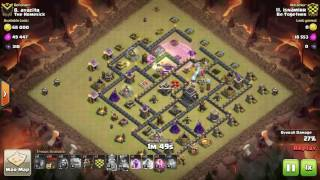 Clash of Clans Clan War Replay   TH9   GoLaLoon   isnamirr   Be Together