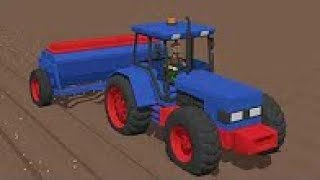 Super:) Blue Tractor It Sows Grain | The Farmer Is Working