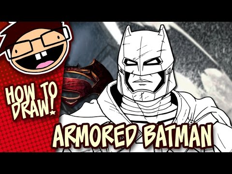 How to Draw ARMORED BATMAN (Batman v Superman: Dawn of Justice) | Easy Step-by-Step Drawing Tutorial