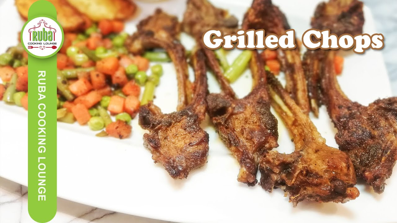 Fried Grilled Mutton Chops Recipe | Mutton Chops Recipe by Ruba Cooking Lounge (Bakra Eid Special)