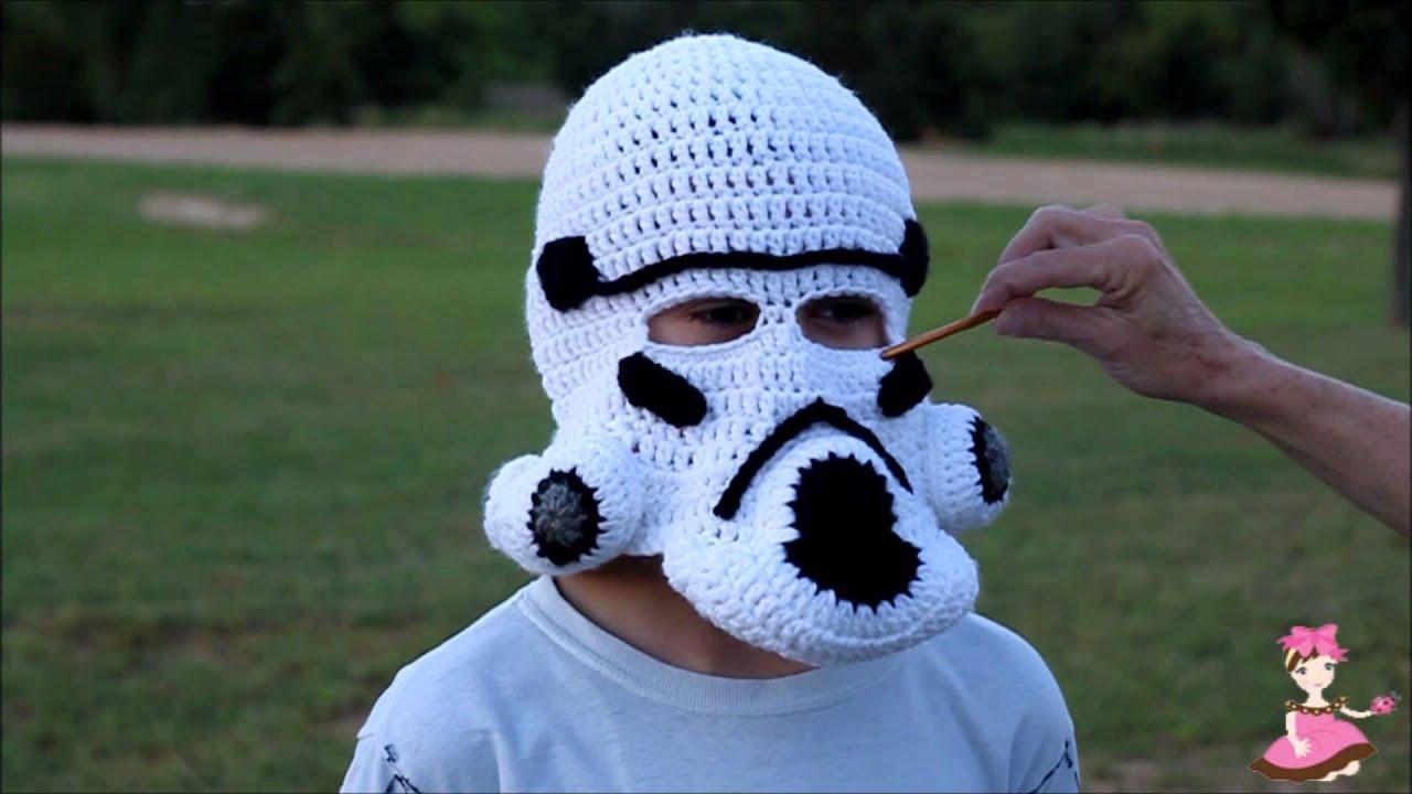 How to crochet tropper mask helmet youtube dt1010fo