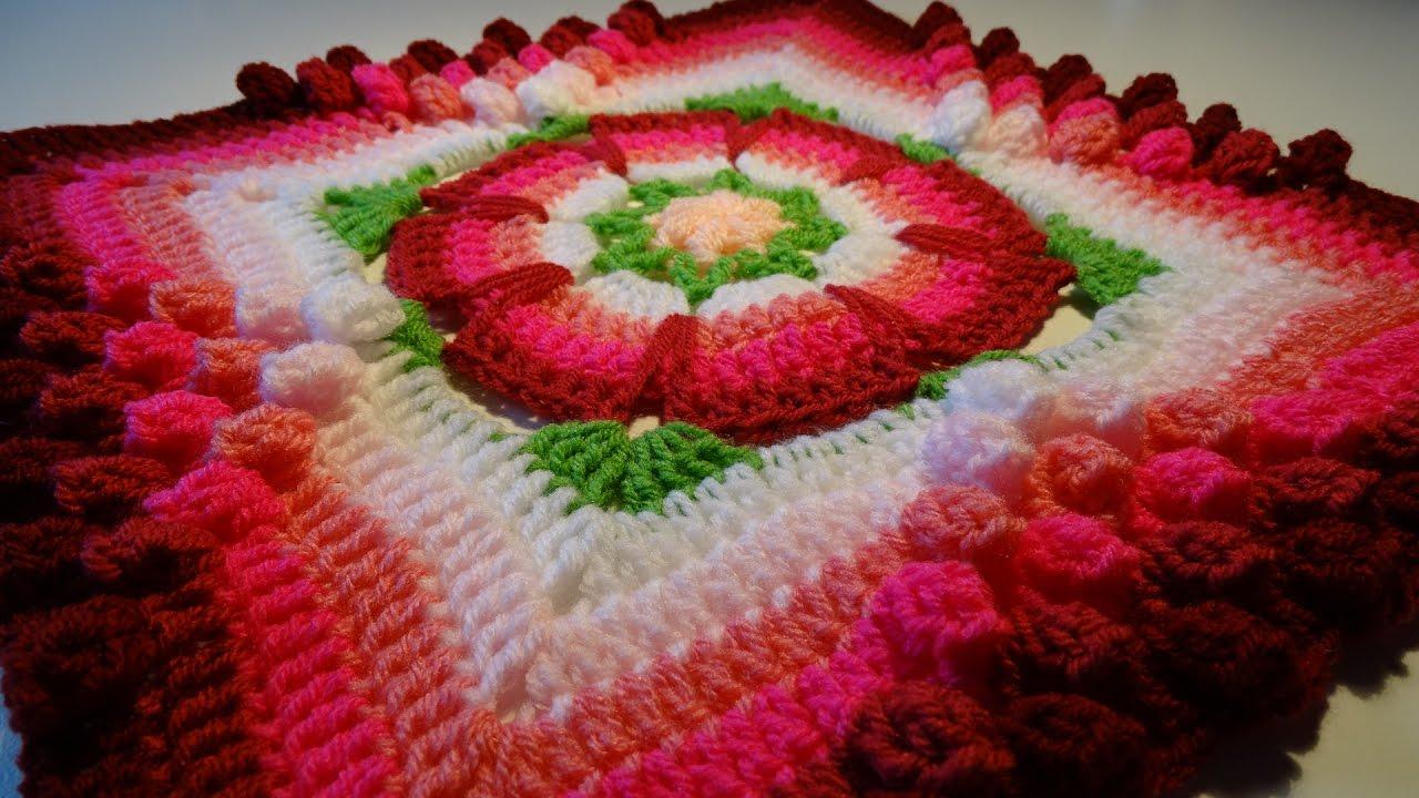 Crochet Flower Granny Square Granny Square Met Bloem Haken Youtube