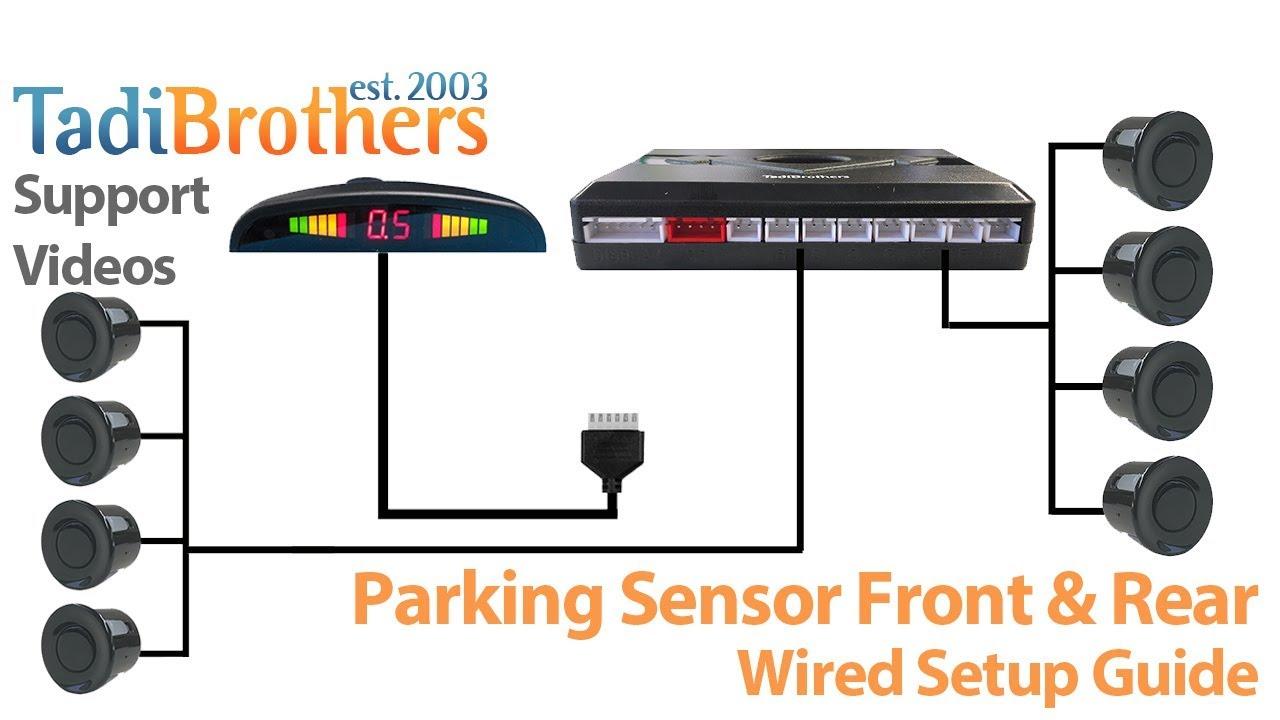 hight resolution of backup parking sensor installation guide