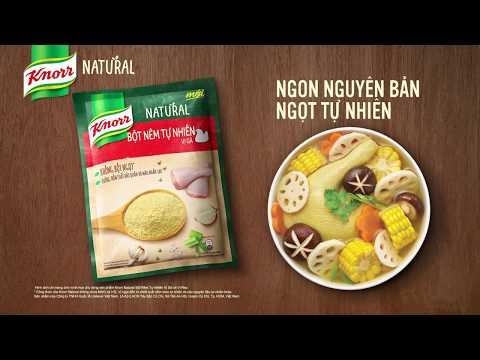 Knorr Natural - Bột nêm tự nhiên mới (6s) - Bắc