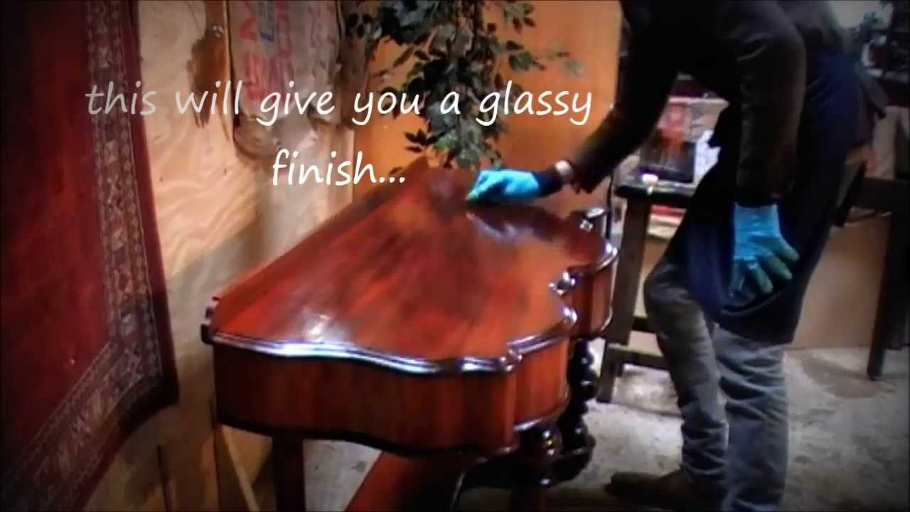 - How To French Polish Antique Furniture. - YouTube
