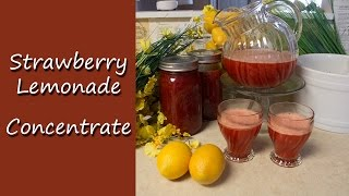 Homemade Strawberry Lemonade Concentrate Recipe