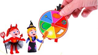 Girls Playing With A Fortune Wheel  Cartoons For Kids