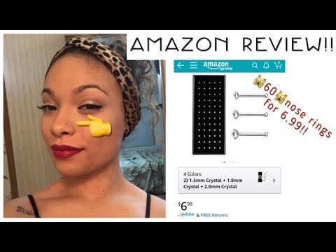 😱60•nose Rings For👉🏽6.99•AMAZON👎🏽REVIEW👍🏽