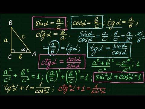 Синус, косинус, тангенс, котангенс. Тригонометрия #1