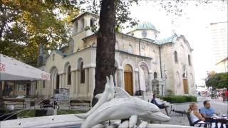 2016-08-13 Varna, Fußgängerzone, Teil 3, Hotel London, Kirche St  Nikolaus und Sommertheater