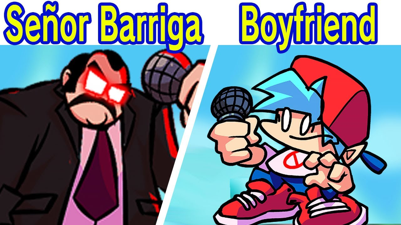 Friday Night Funkin'  Vs Señor Barriga vs Boyfriend - (FNF Mod/Difícil)