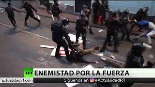 La Policía ecuatoriana dispersa una marcha contra Lenín Moreno y a favor de Julian Assange