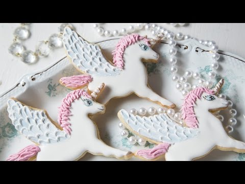 How To Decorate Winged Unicorn Cookies!