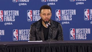 Stephen Curry Postgame Interview - Game 4 | Warriors vs Blazers | 2019 NBA Playoffs