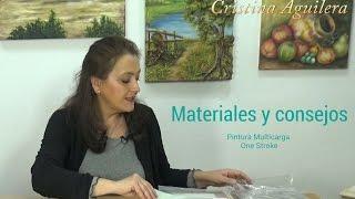 Materiales utilizados en la pintura One Stroke