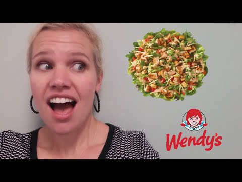 NEW Wendy's Spicy Buffalo Chicken Salad Review