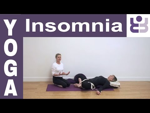 Yoga for Insomia Series: Supta Baddha Konasana (Supine bound angle pose). Iyengar Yoga for Beginners