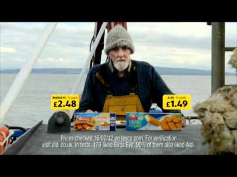 ALDI FISH FINGERS ADVERT CALLS OUT CAPTAIN BIRDSEYE.flv