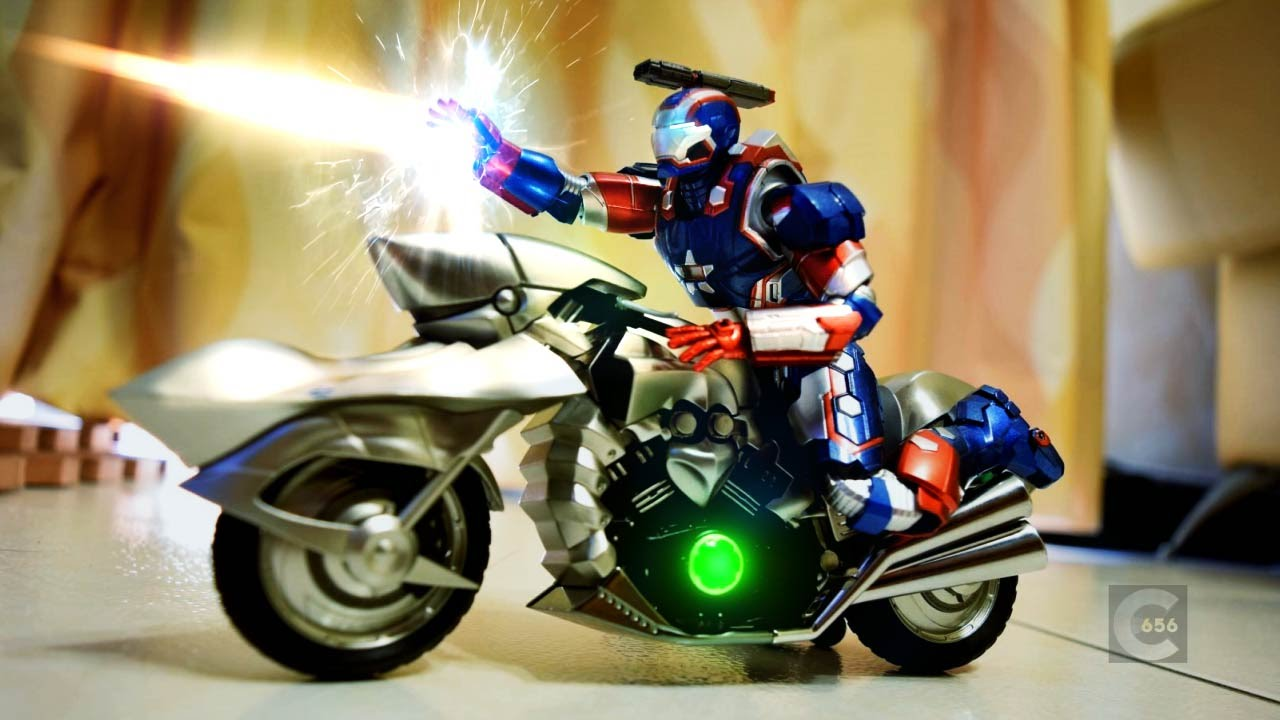 Avenger Stop Motion review - SHF Iron Patriot 鋼鐵人愛國者