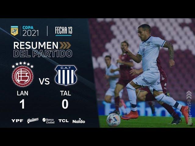 Copa De La Liga | Fecha 13 | resumen de Lanús - Talleres