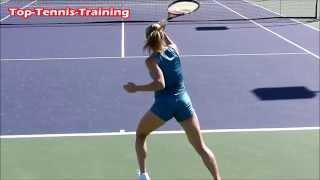 Camila Giorgi Slow Motion Forehands and Backhands