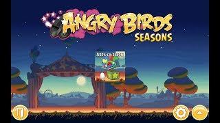 Angry Birds: Seasons. Abra-ca-bacon (level 1-1) 3 stars Прохождение от SAFa