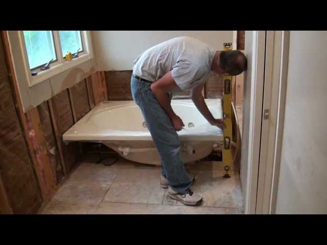 how to install a whirlpool tub with pictures wikihow rh wikihow com Corner Jet Tub Layout install a jet tub