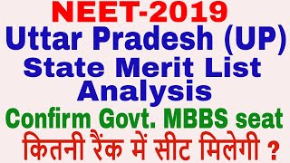 UP state merit list || Confirm MBBS seat analysis || category wise seat allotment and counseling