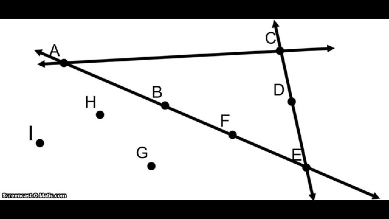 Naming Geometric Figures, Part 1: Lines, Segments, and