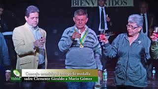 Concejo municipal entregó la medalla al mérito a Mario Gómez