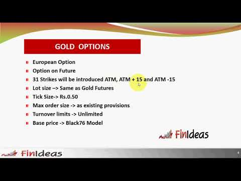 Commodity Options on Gold in India MCX Options English