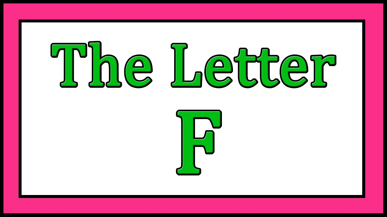 The Letter F Songs - ABC Songs - Toddler Baby Preschool - Learn the ...