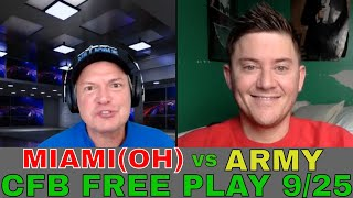 College Football Picks and Predictions | Miami (Ohio) vs Army Preview | Side and Total Free Plays