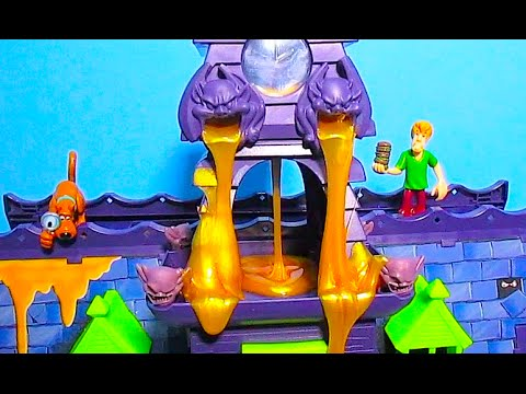 SCOOBY DOO HAUNTED MANSION with GOO TURRET with SCOOBY DOO, SHAGGY AND BUZZ LIGHTYEAR [Slime]