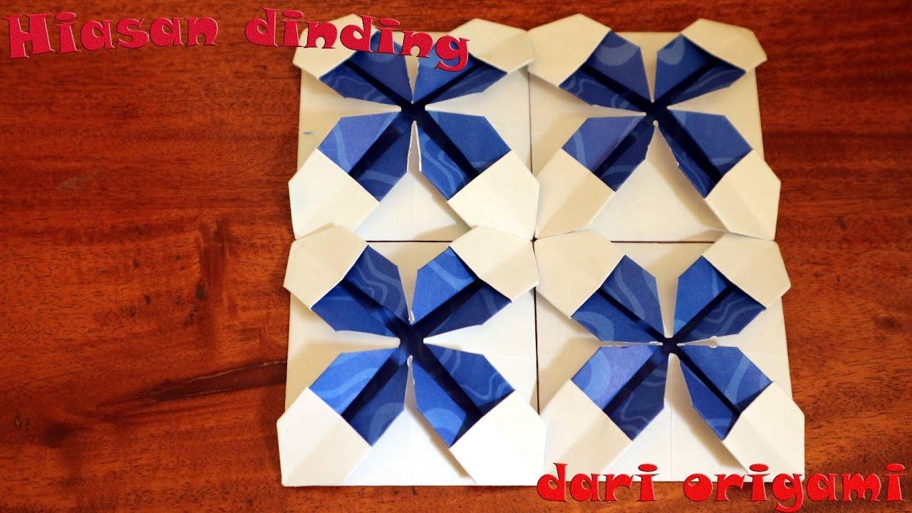 Tutorial Cara Membuat Origami Hiasan Dinding Kamar Youtube